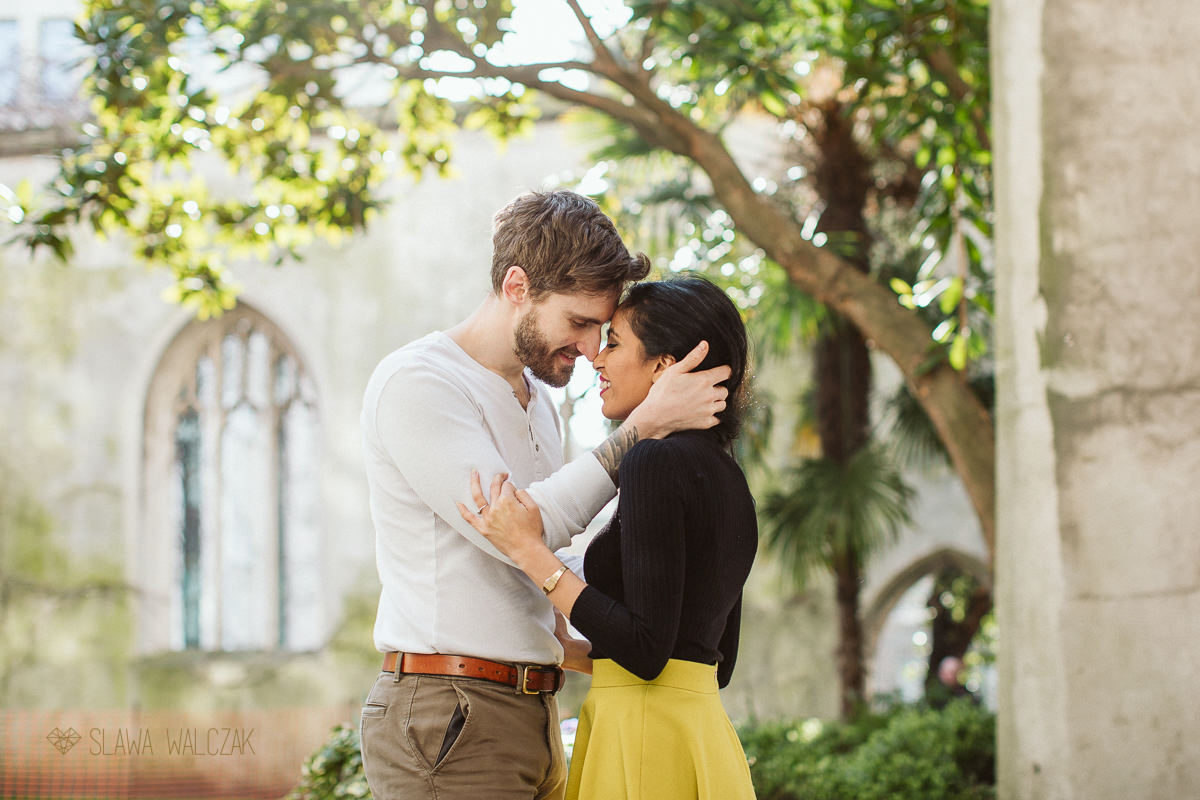 Natural London Engagement Photography St Dunstan in the East