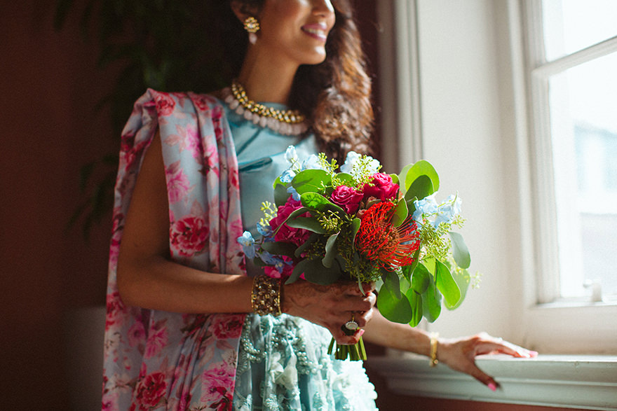 asian bride portrait photography from an london wedding in Chelsea Town Hall