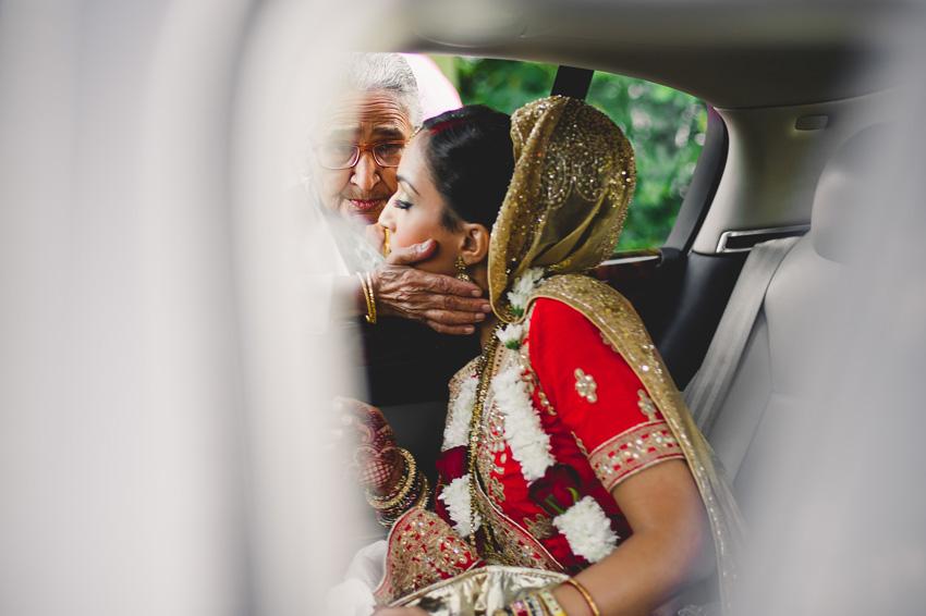 vidai ceremony grandma kissing the bride