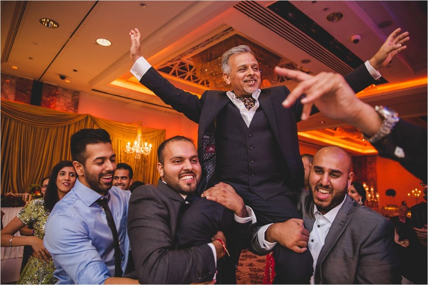 south asian wedding reception at a Lancaster hotel in London