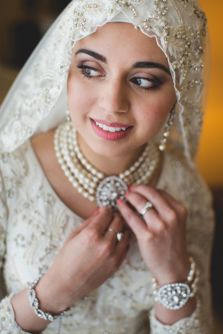 portrait of a muslim bride