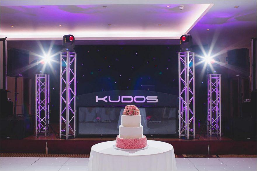 wedding cake on the dancefloor