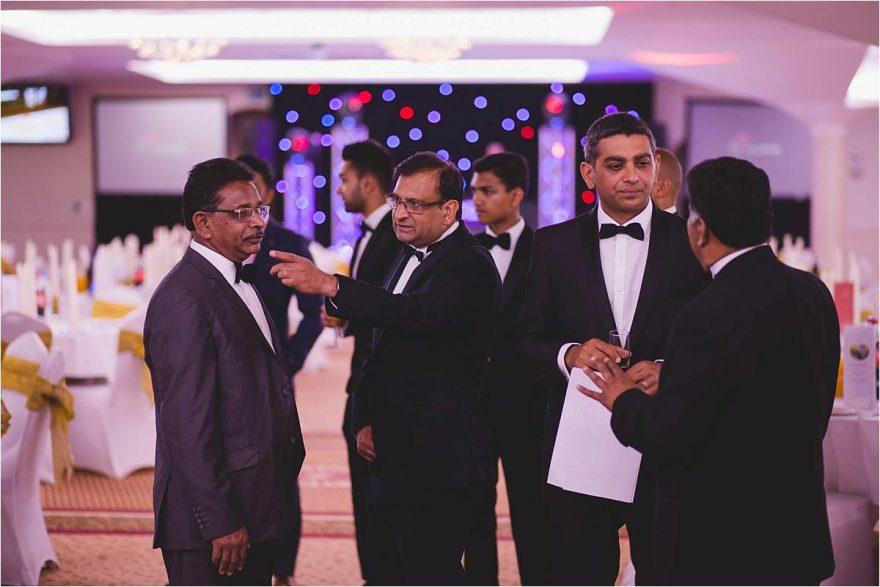 black tie indian wedding guest