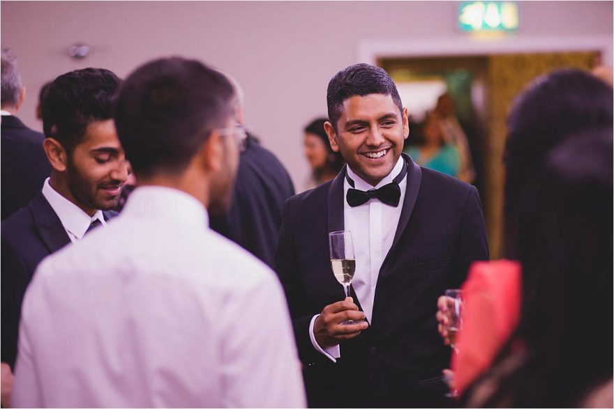 black tie guest at an hindu wedding reception