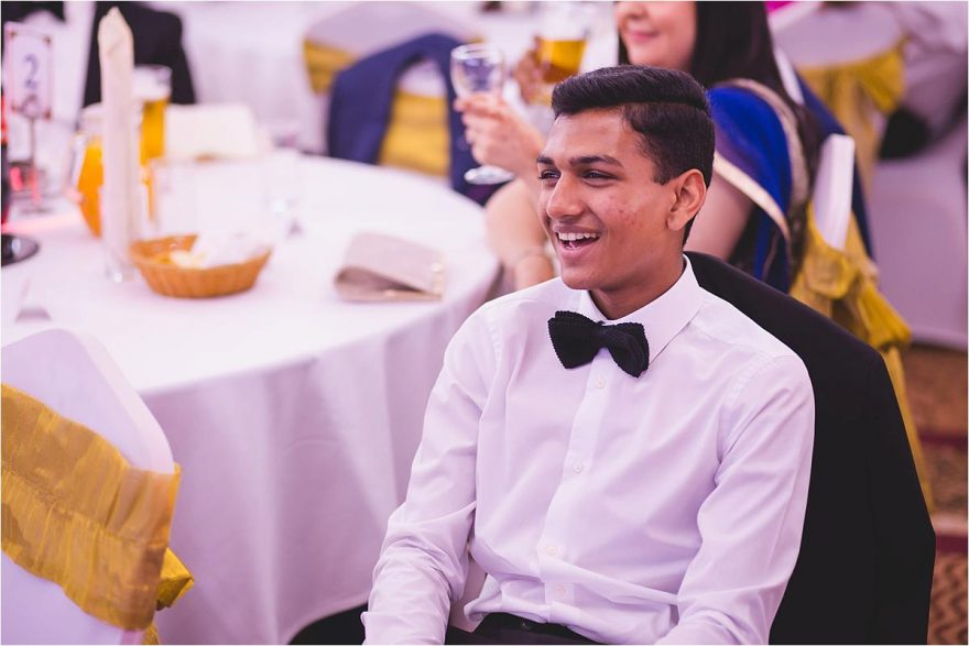 guests enjoying the wedding speach in london