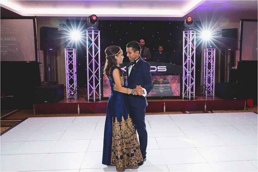 first dance at hindu wedding reception