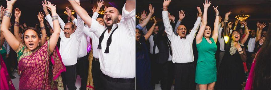 hands up on the wedding dancefloor