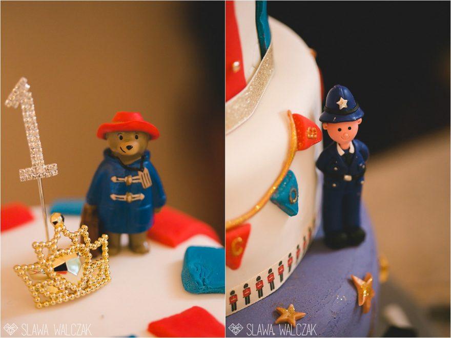 London themed birthday cake figurines