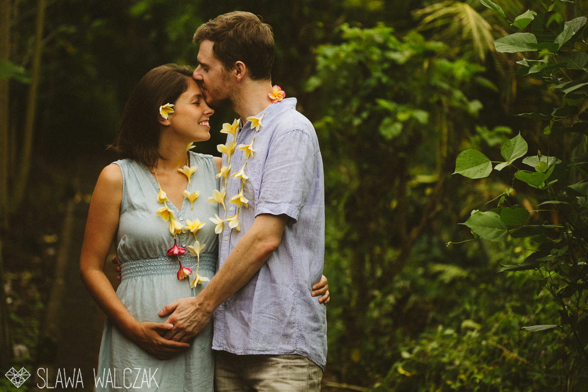 young couple posing for their destination engagement photos in Ubud, Bali , Indonesia