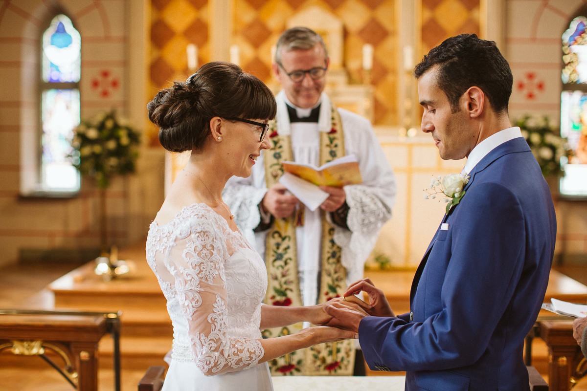 DIY wedding at the transfiguration church in Kensal Rise London