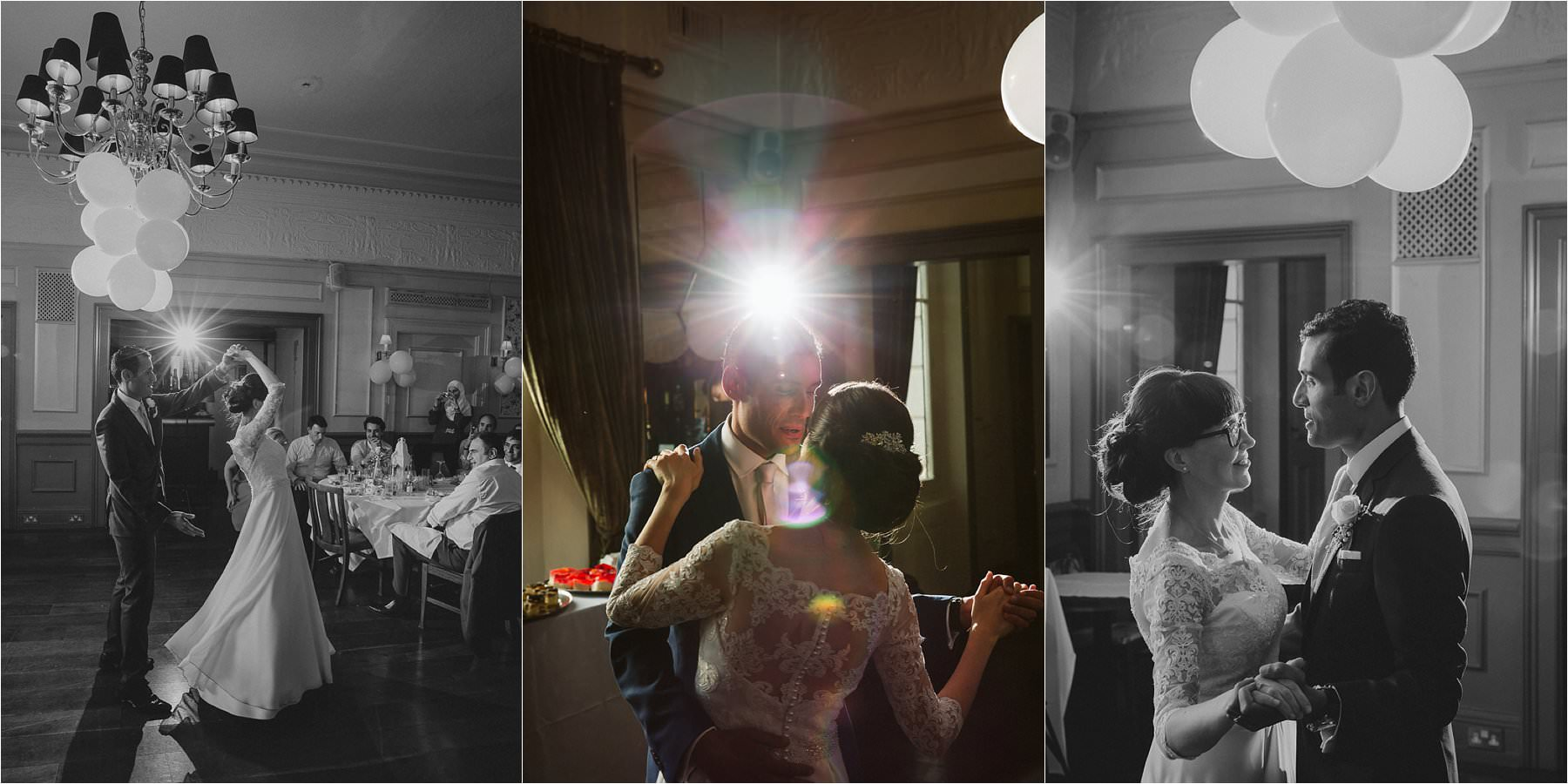 First Dance during a guests laughing at a Little Venice wedding in London