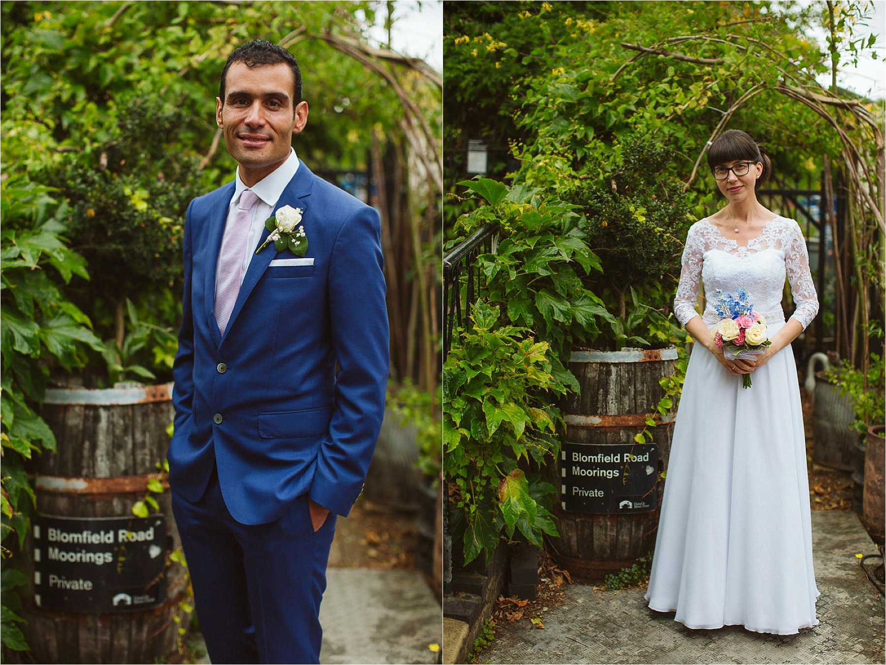 couple portraits at DIY wedding at Little Venice