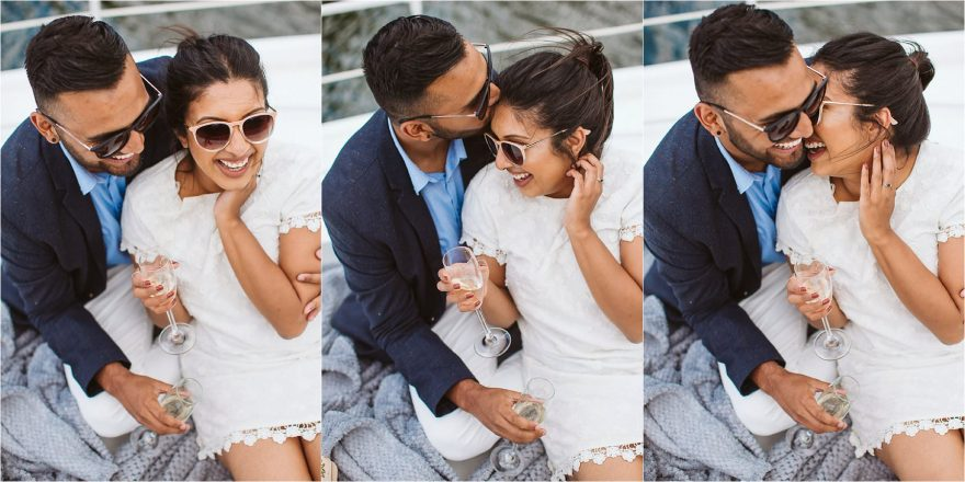 London Surprise Proposal Photos on a Yacht on a River Thames