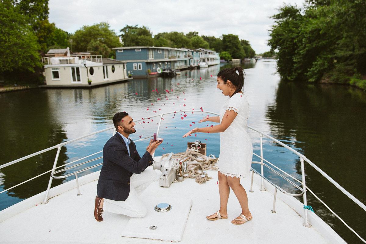 London Surprise Proposal Photos
