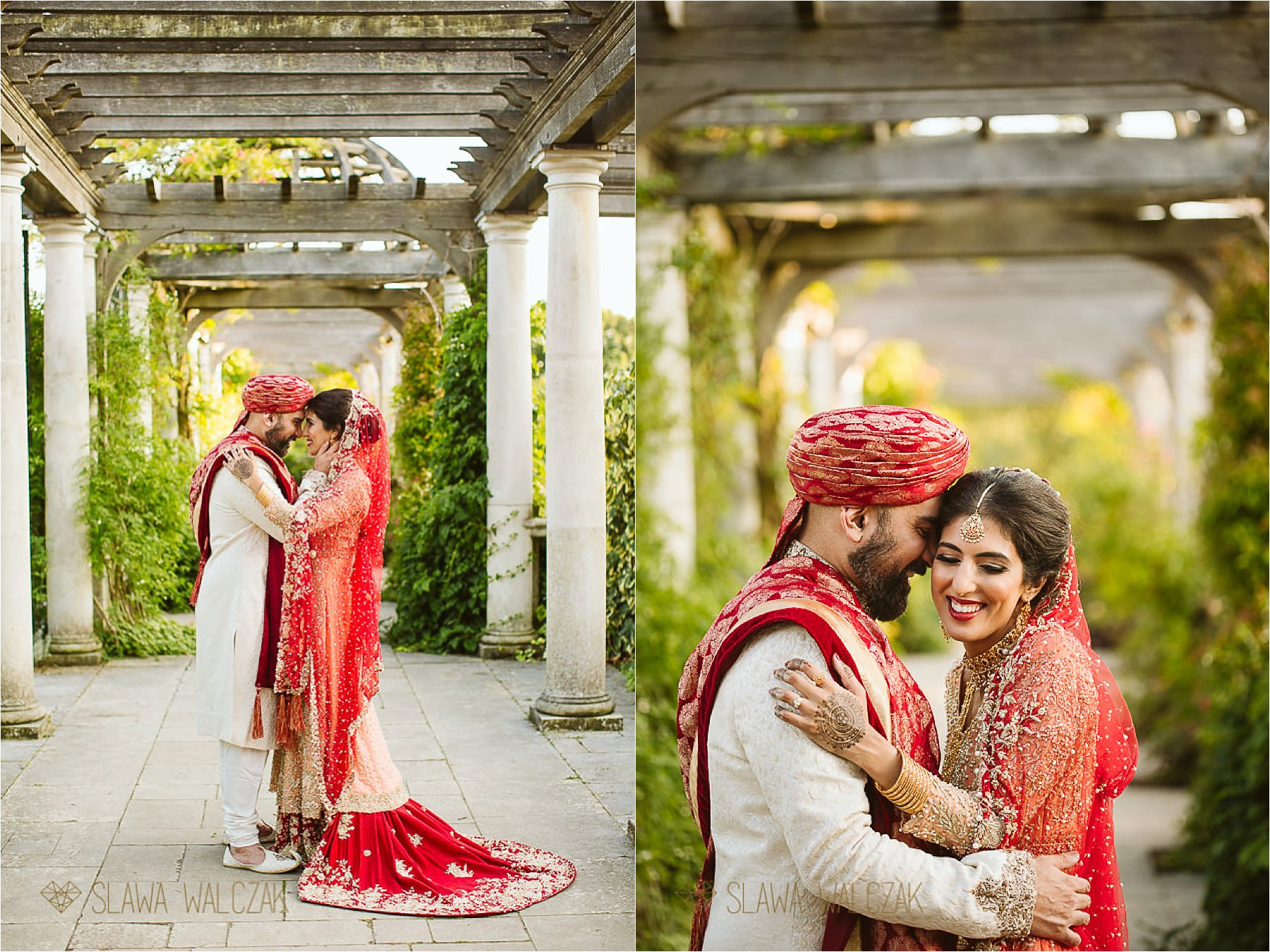 Hampstead Heath Pergola Asian Wedding Photoshoot