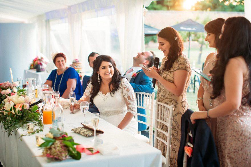 speeches at Hexton Manor Wedding Photography