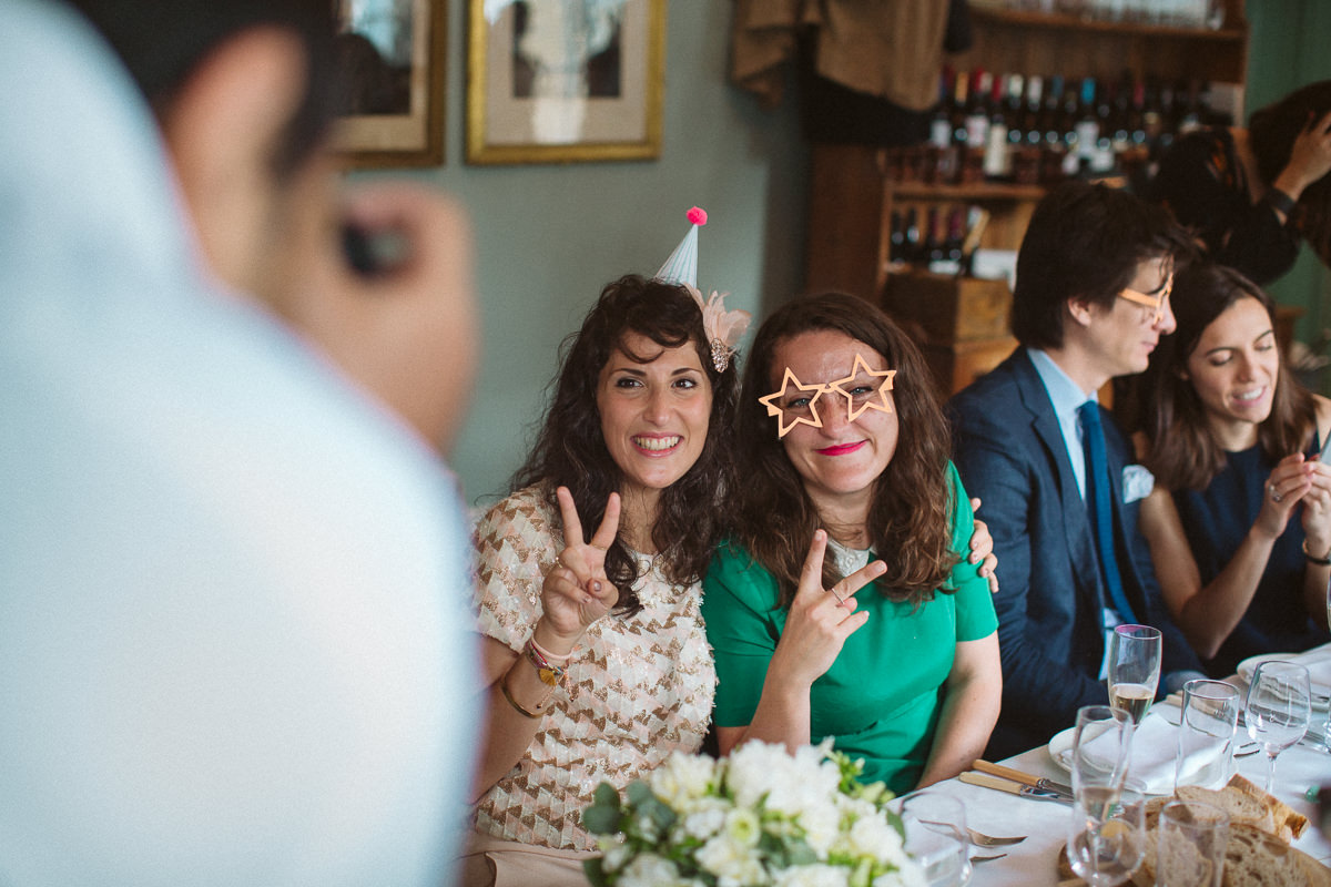 informal wedding at the Drapers Arms pub in London