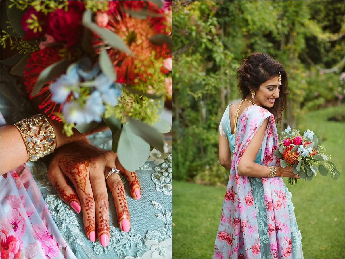 Bridal asian portraits in Regents Park London