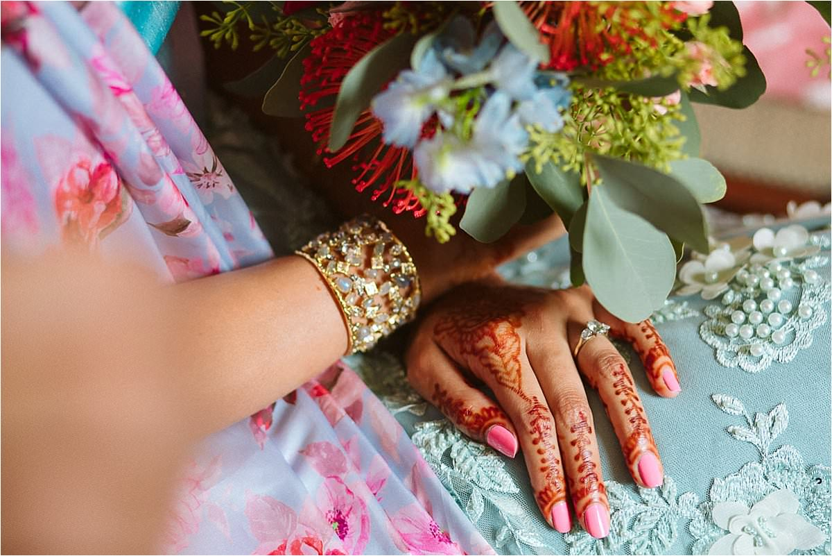 Henna Tattoo details from Asian Wedding in London