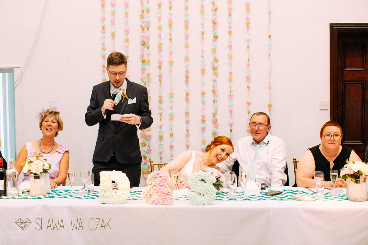 super funny wedding speaches at the Amadeus London
