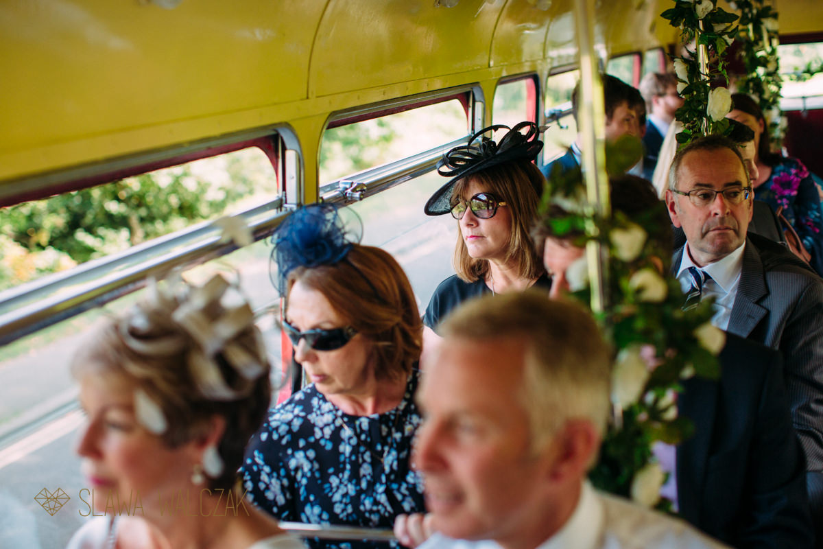 London Double deccker bas taking guests to their wedding venue