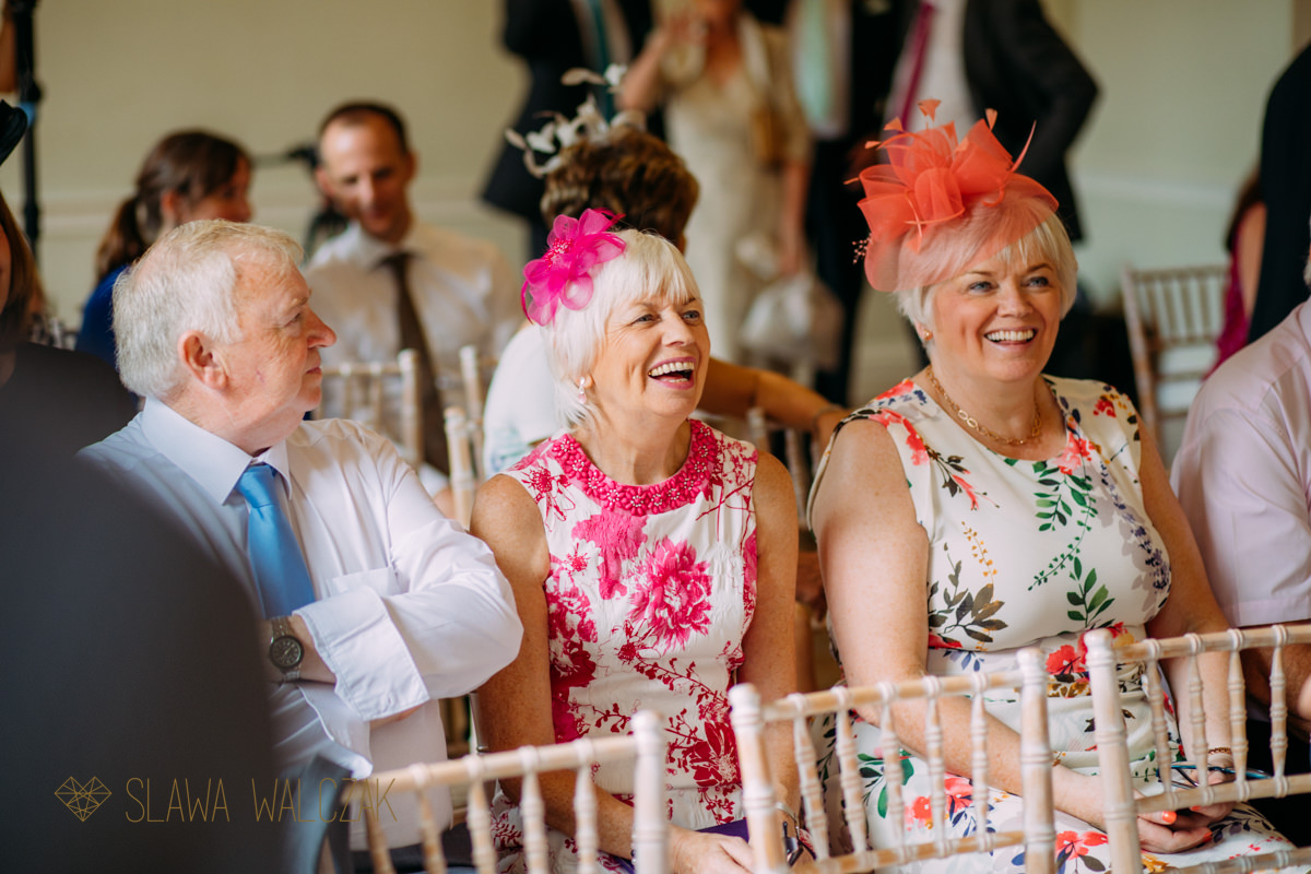 laughing guests at a Wedding in Asia House London