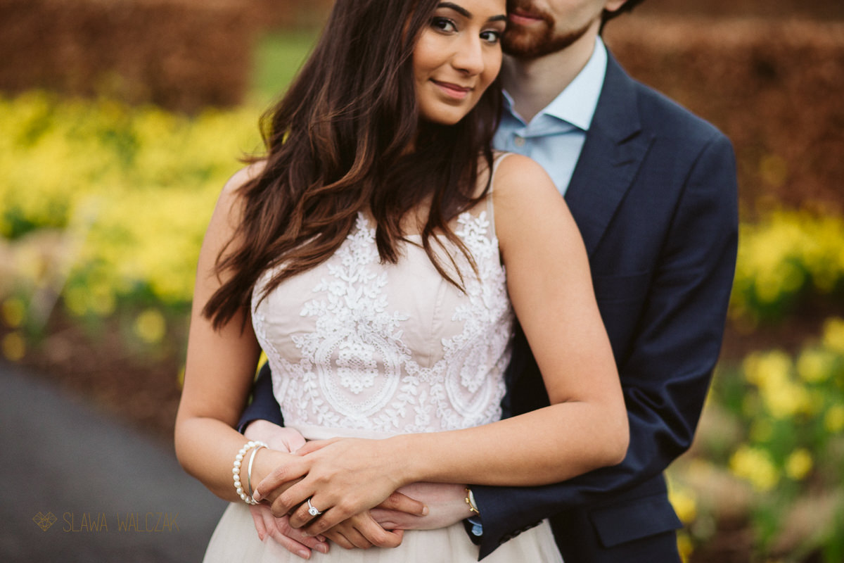 super romantic shot from an Indian engagement photo session in London