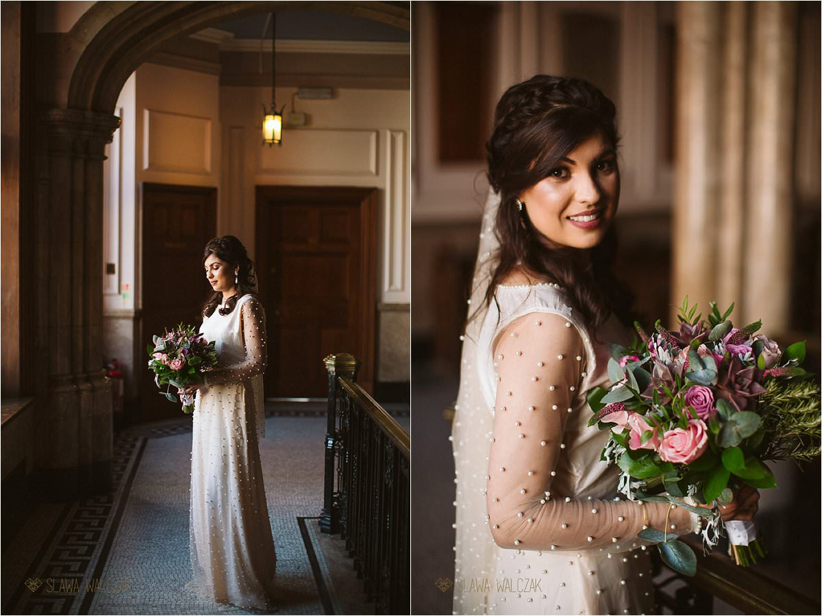 bridal portraits photographed at the Ealing Town Hall in London