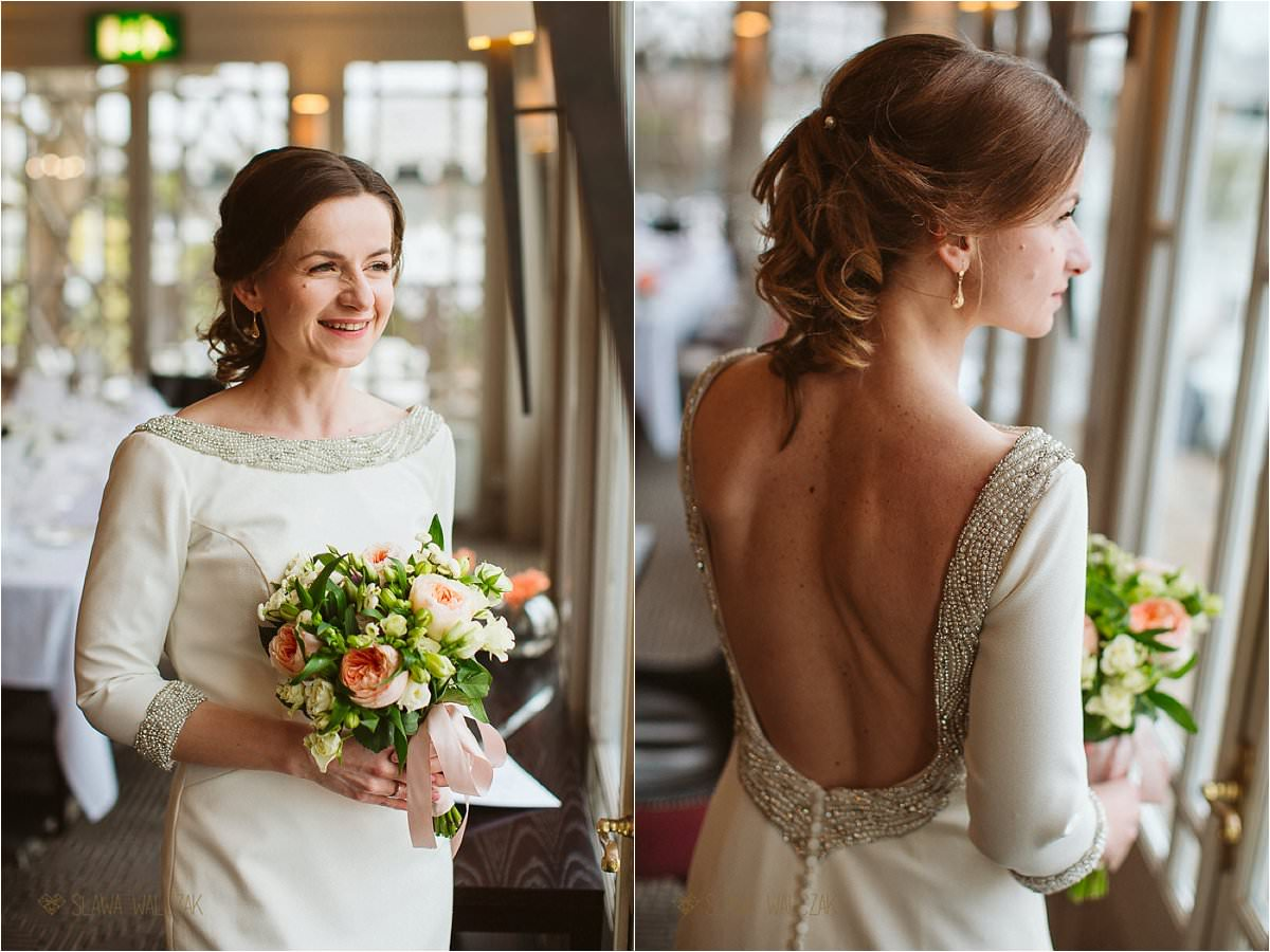 besutiful bride poses for photos at Compleat Angler Marlow Wedding Photography