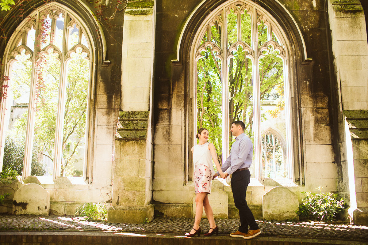 St Dunstan in The East London Engagement Photos