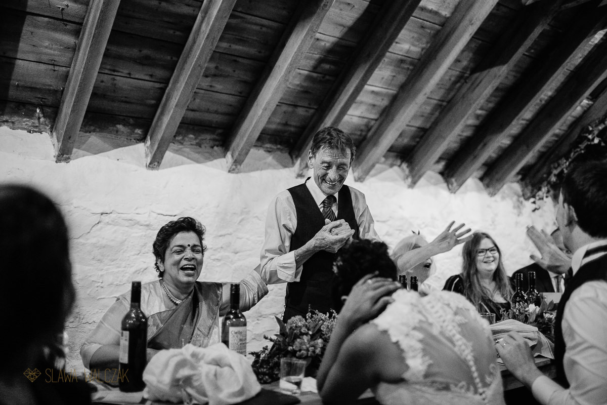 Dad's Speeches at Cockdurno Farm Wedding Photography Edinburgh Scotland