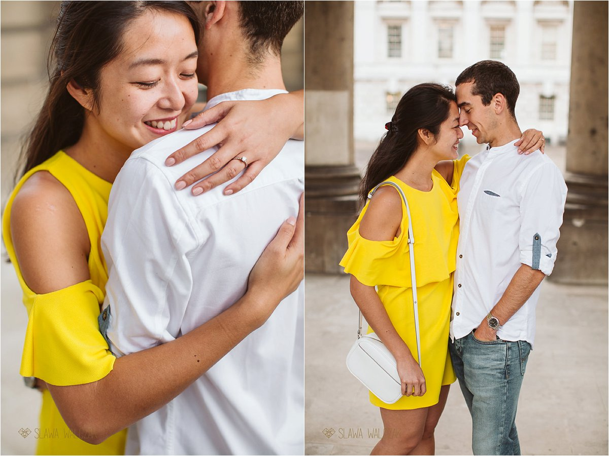 couple engagement photo shoot at the Greenwich College in London