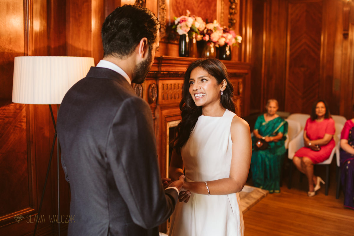 ring exchange at Old Marylebone Town Hall Wedding Photography