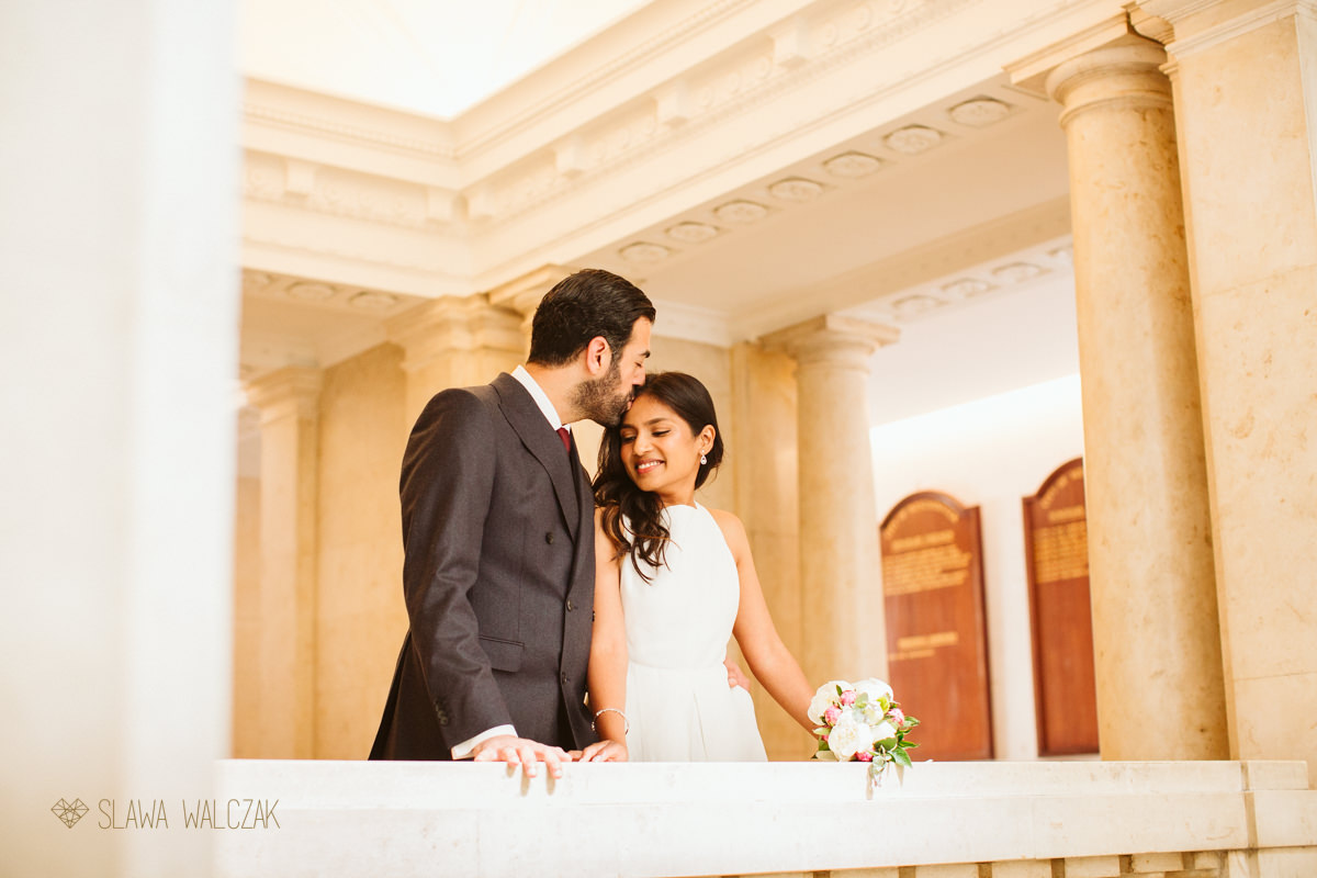 Couple Wedding photo shoot at Old Marylebone Town Hall