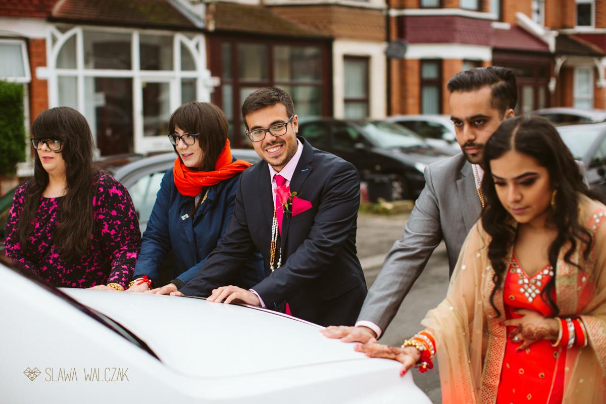 vidai at sikh Indian wedding in London