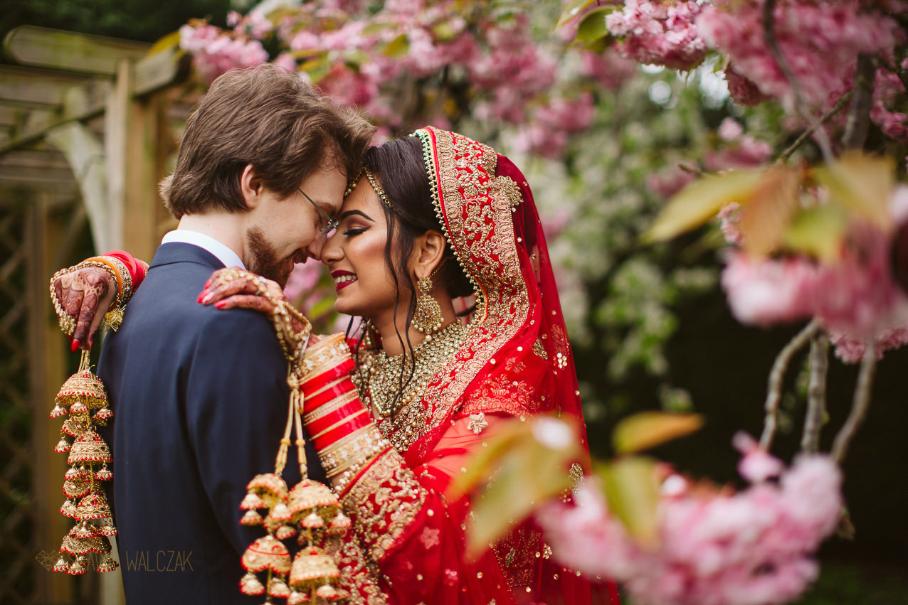 indian couple posing for their couple photos during an indian wedding