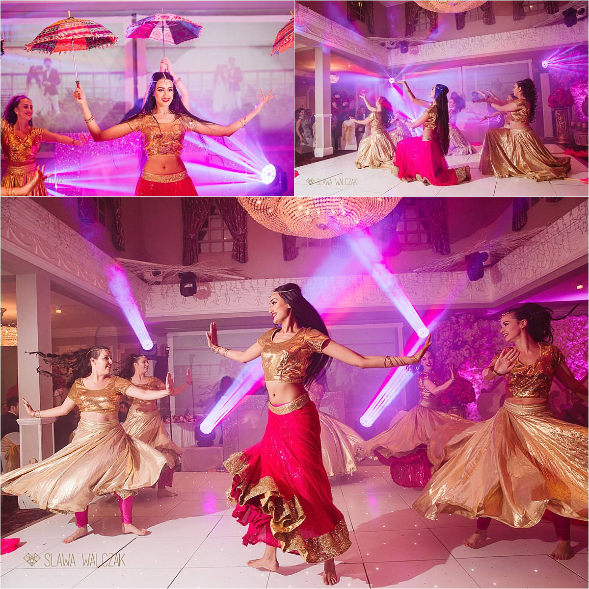 dancers at an Indian wedding in London