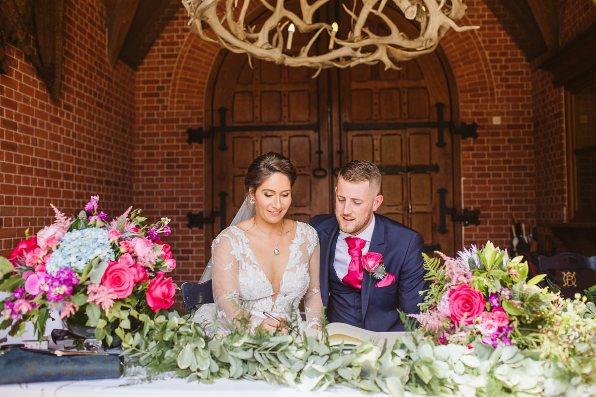 documntary wedding photography at the Dairy at Waddesdon Manor