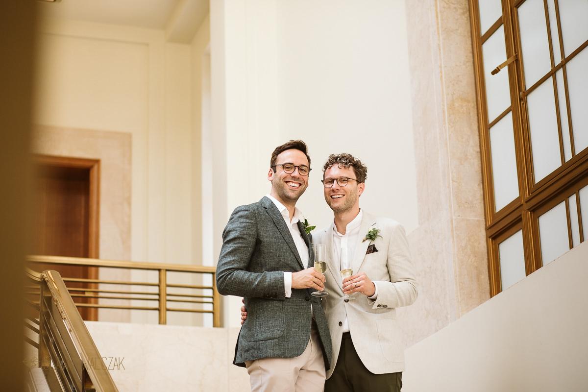 same sex wedding at Hackney Town Hall