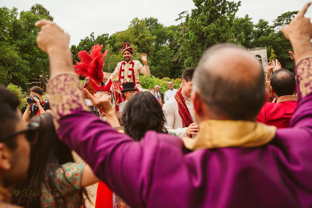 Indian groom's entrance Beaumont Estate Windsor