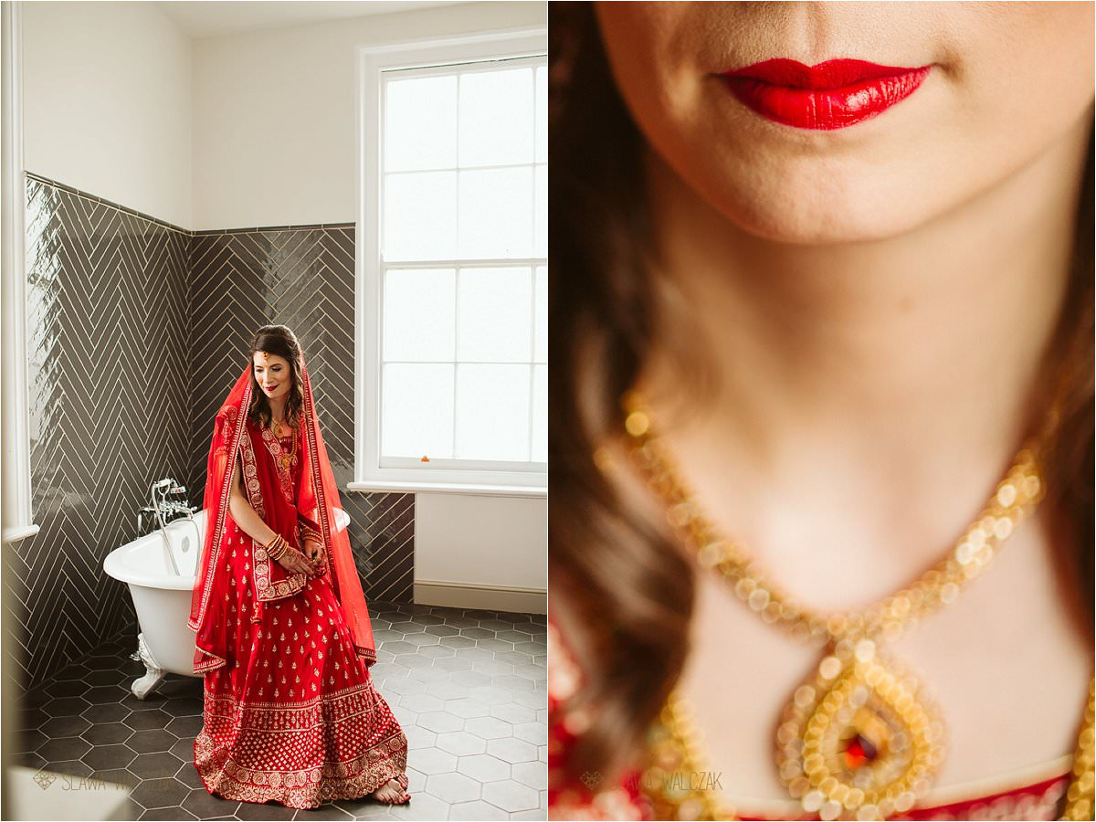 Detail shots of a bride getting ready for her Indian Wedding in Beaumont Estate in Windsor