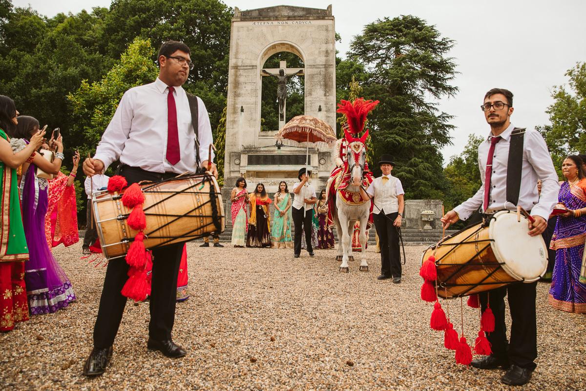 groom's baraat an a Hindu wedding in Windsor