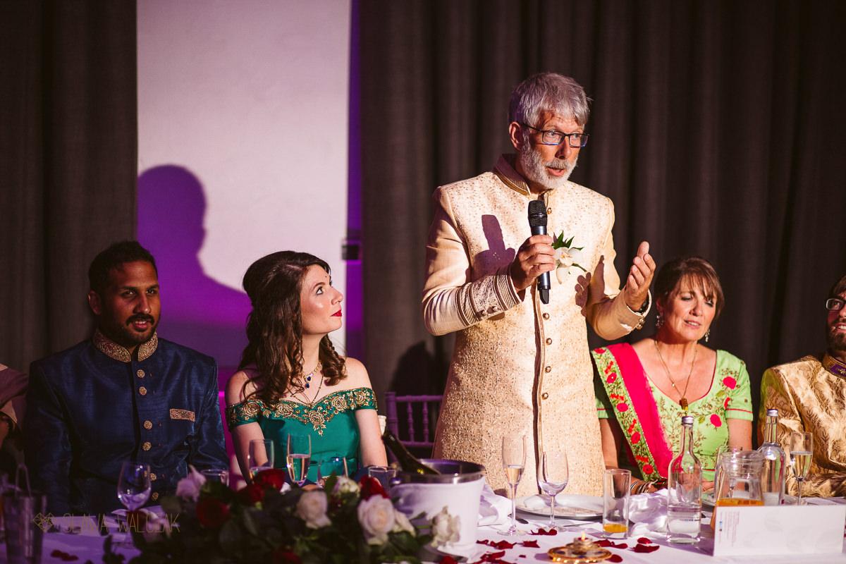 speeches at an Beaumont Estate Indian Wedding
