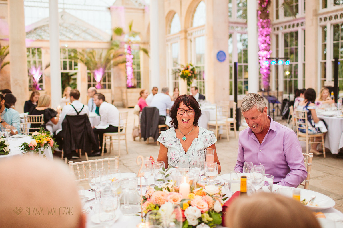 guests during a wedding reception at aGreat Conservatory wedding