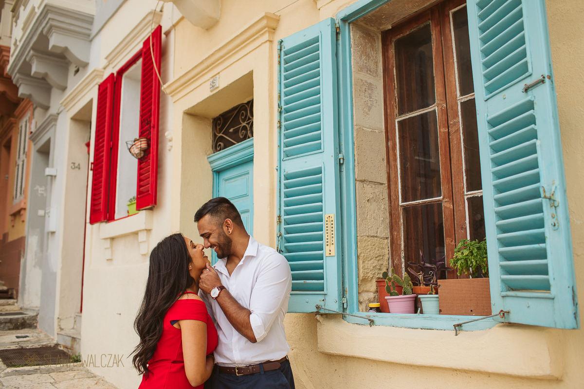 Couple engagement photo shoot in Valletta Malta