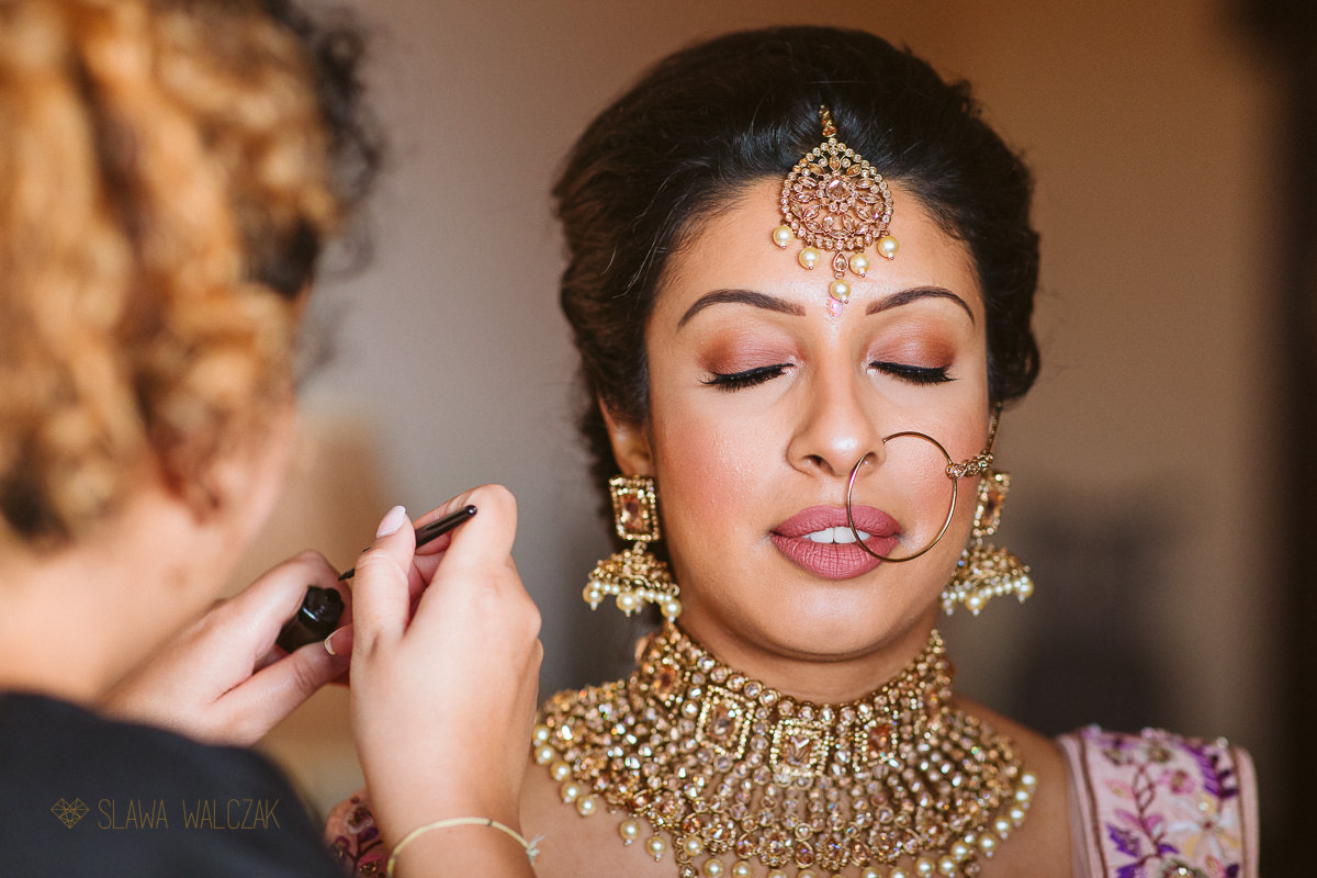 Indian Bride getting ready at a wedding in Malta