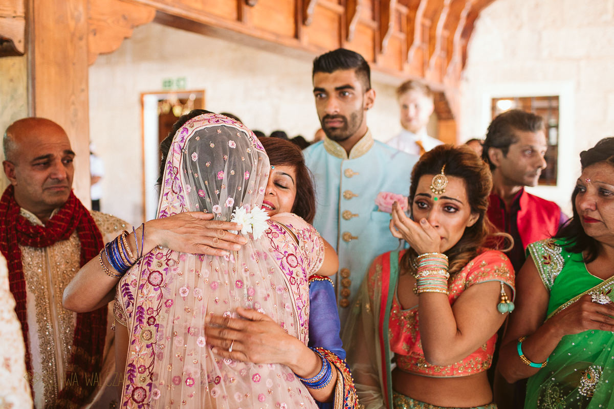 Indian Bride departure from her Hindian wedding in Malta
