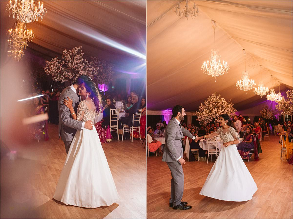 First Dance at an Indian Wedding in Chiswick House