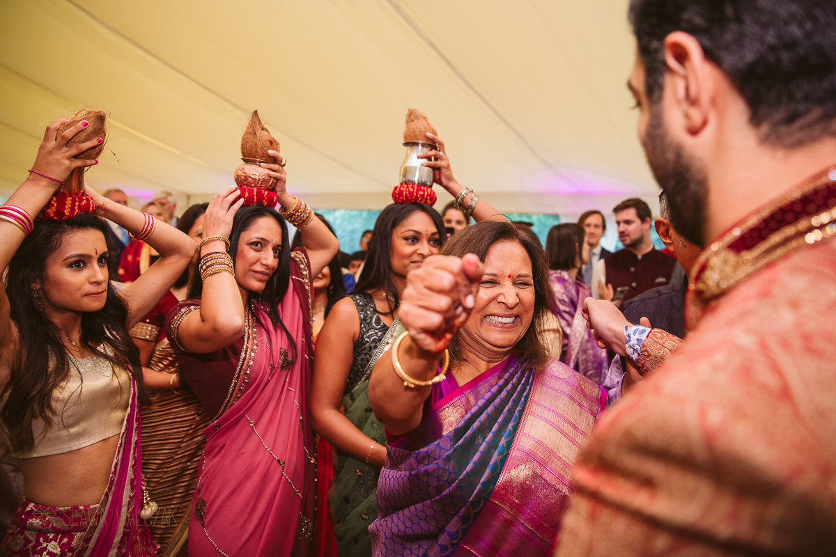 Indian groom arrival for his wedding at Chiswick Park