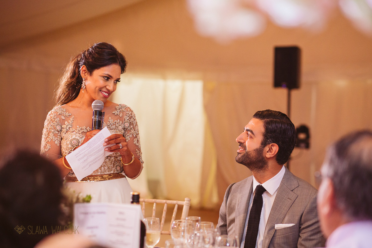 speeches at an asian wedding in Chiswick House